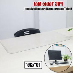 Transparent PVC Table Cover Mat Protector Abrasion Resistant