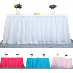 Tulle TUTU Table Cover Skirt Tableware Wedding Party Xmas Sh