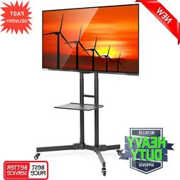 TV Cart LCD LED Plasma Flat Panels Mobile Stand Mount with W