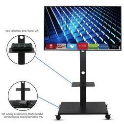 Stand TV Cart Plasma LCD LED Flat Screen Panel w/ Wheels Mob