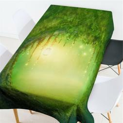 TV Stand Dining Table Cover Party Banquet Table Cover Green