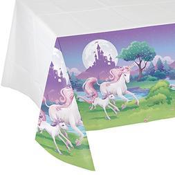 Creative Converting Unicorn Fantasy Border Print Plastic Tab