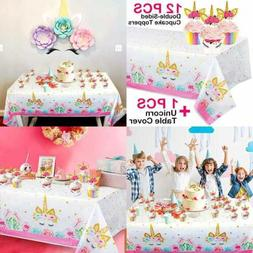 Unicorn Plastic Tablecloth Birthday Party Decorations Dispos