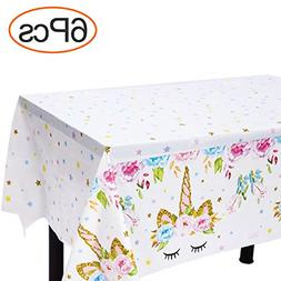 Unicorn Plastic Tablecloth Disposable Table Cover For Girls