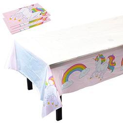 Blue Panda Unicorn Rainbow Party Supplies- 3 Pack Disposable