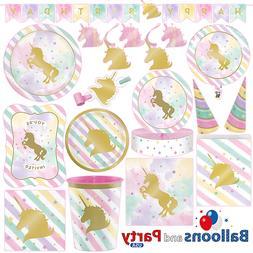 Unicorn Sparkle Pony Girl's Birthday Party Tableware Decorat