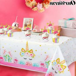 unicorn party tablecloth disposable table cover kid