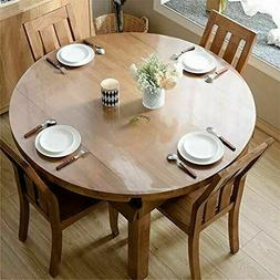 OstepDecor Upgraded Version Clear Round Table Cover 2mm Thic