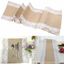 US Luxury Table Runner Linen Lace Floral Table Cover Runners