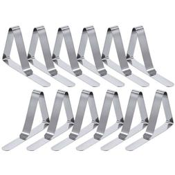 US Table cloth clamps desk skirt cover wedding party picnic