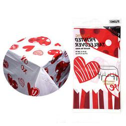 Valentine Printed Disposable Table Cover - CASE OF 36