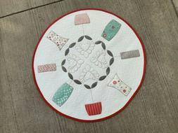 Handmade Valentine's Day Quilted Table Topper/Valentines Rou