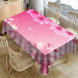 Valentine's Tablecloth Print Rectangle Table Cover Holiday P