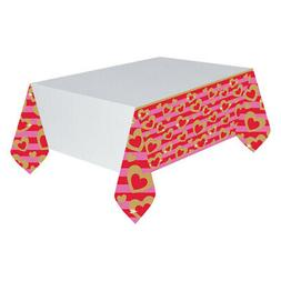 2 x Valentines Day Heart Of Gold Paper Party Tablecover