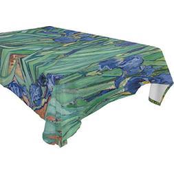 BAIHUISHOP Van Gogh Flower Floral Print Fabric Tablecloth Re