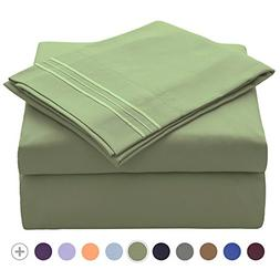 VEEYOO 1800 Thread Count Microfiber Bed Sheet Set - Wrinkle,