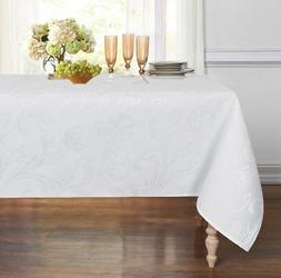 ColorBird Venetian Scroll Damask Jacquard Tablecloth Spillpr