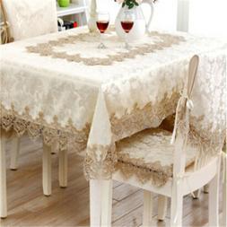 Lace Table Cover Vintage Rustic Table Cloth Floral Shape Ret