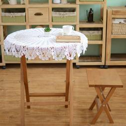 Vintage Crochet Tablecloth Pineapple Flower Cotton Lace Tabl
