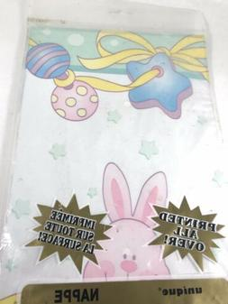 Vintage Unique Easter bunny Table Cover Plastic Tablecloth 5