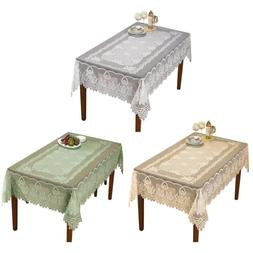 Vintage Lace Tablecloth Dining Table Cloth Cover Topper Wedd