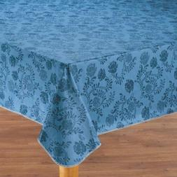 Vinyl Floral Table Cover Round Oval Oblong Drop Yellow Blue