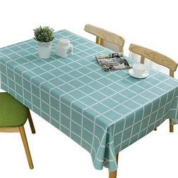 Bringsine Vinyl Rectangle/Oblong Tablecloth PVC Table Cover