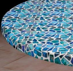"""Vinyl Table Cover - Small Round: Fits 36""""-44"""" Dia. Table"""
