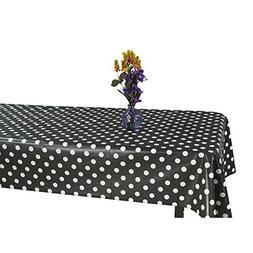 Ottomanson Vinyl Tablecloth Polka Dot Design Indoor & Outdoo