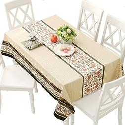 DUOFIRE Vinyl Tablecloth Rectangle Wipe Clean Table Cover Wa