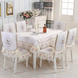 WAN SAN QIAN- European-Style Table-Cloth Chair Covers Cushio