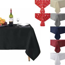 Washable Water Resistance Microfiber Tablecloth Polyester Re