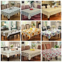 Water Resistant Tablecloth Rectangle Floral Table Cover Indo