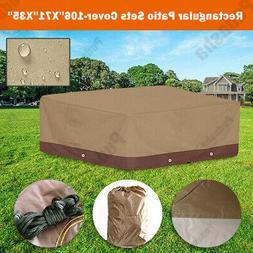 Premium Waterproof Furniture Cover For Rectangular Patio Set
