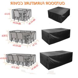 Waterproof Large Garden Rectangle Outdoor Furniture Cover Pa