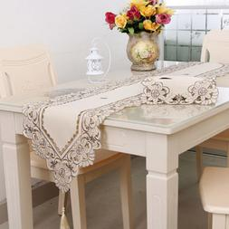 Waterproof Openwork Embroidery Pastoral Tablecloth Dining Co