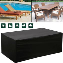 Waterproof Outdoor Patio Furniture Cover Rectangular Garden