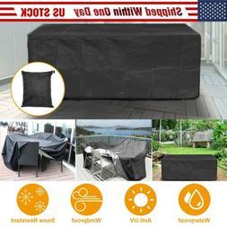 Waterproof Outdoor Patio Furniture Cover Rectangular Garden