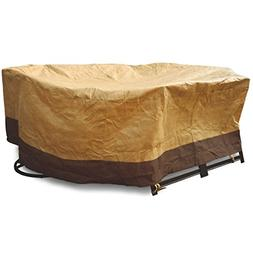 """72"""" Waterproof Oval/Rect Table Cover Outdoor Garden Patio Fu"""