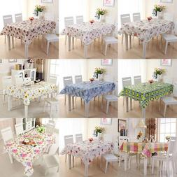 Waterproof PVC Oil Proof Table Cloth Cover Party Dining Kitc