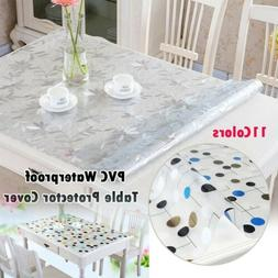 Waterproof PVC Tablecloth Protector Dinning Table Cover Desk