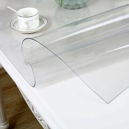 Waterproof Soft Glass Transparent Table Cover for Home Kitch