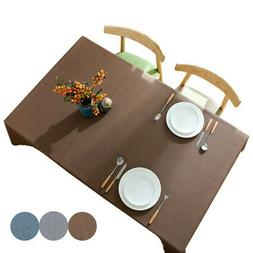 Waterproof Tablecloth Dining Room Table Cover Home Outdoor P