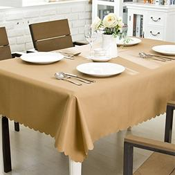 OstepDecor Waterproof Tablecloth 100% Polyester Dinner Picni