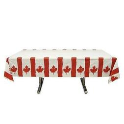 Amscan Waving Canadian Flag Patriotic Party Table Cover , Re