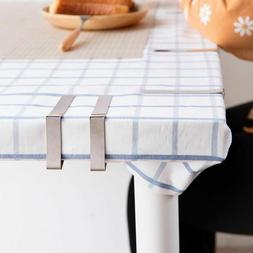 Wedding Home Party Stainless Steel Tablecloth Clamp Holder C