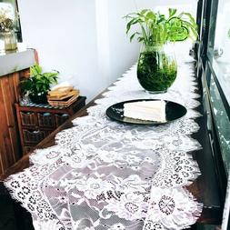 Wedding Lace Table Runners Floral Embroidery Table Cover Par