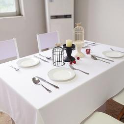 BULK 180x180cm Premium Poly Table Cover Thick Medium White S