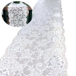 White Lace Comfortable Table Cover for Wedding Boho Bridal S