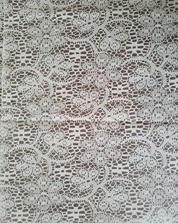White Lace Look Overlay 150 ft Plastic Banquet Table Cover R